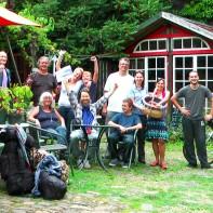 Meine lieben Facebook-Freunde ... einige waren von sehr weit her angreist ... Marcel sogar mit dem Fahrrad (Respekt!)
