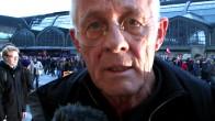 Auch Schauspieler Rolf Becker war bereit mit zu erklären, warum er die Flüchtlinge unterstützt... (Interview vom 2.11.2013)