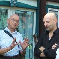 Dr. Paleit im Gespräch mit Manfred Grössler (Graz) und Christoph von Löw jr. im August 2012